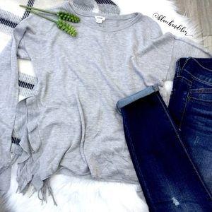 garage • open size ruffle trim sweater